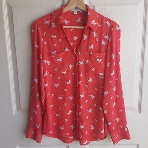 Express Cat Printed The Portofino Shirt Size Small